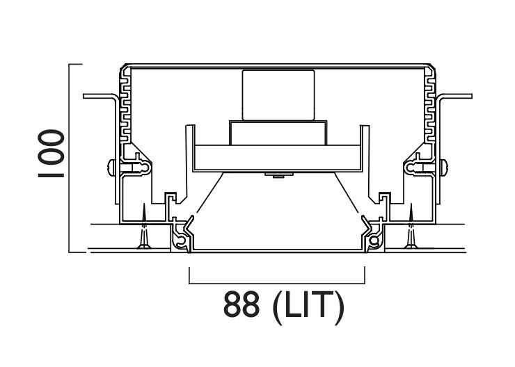 Lightline LED 88 Trimless Line Drawing